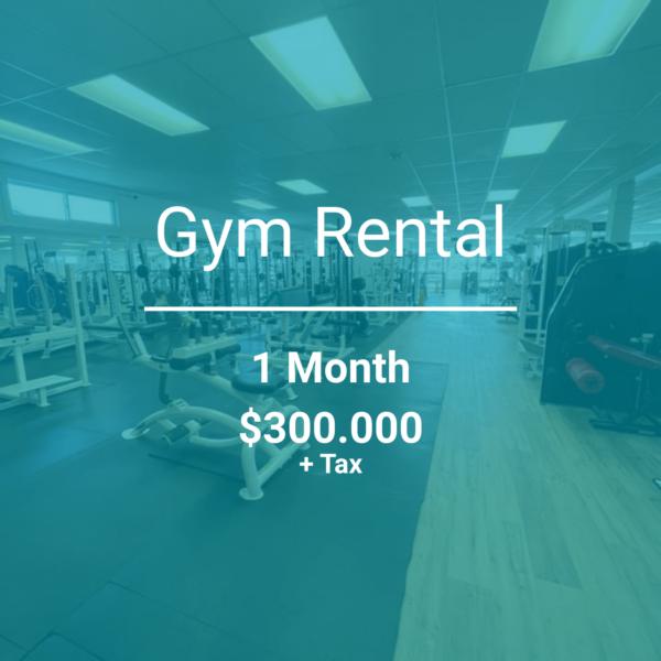 personal training gym rental